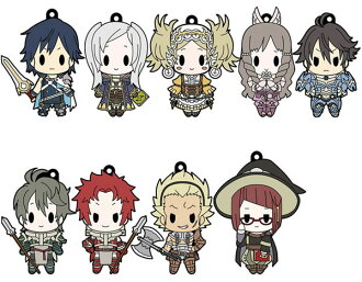 D4 Fire Emblem Awakening - Rubber Keychain -all unit collection- Vol.1 10Pack BOX