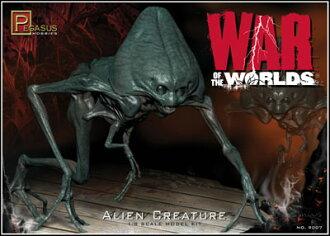 宇宙戦争 1/8 エイリアン・フィギュアセット 硬質ソフビ&プラモデル(War of the Worlds 1/8 Alien Figure Set Hard Sofubi & Plastic Model)