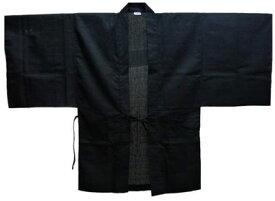 羽織(無地) ブラック サイズ:フリー(男女兼用)[櫻井商事]《取り寄せ※暫定》
