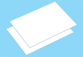 楽しい工作シリーズ No.215 ちぢむ白色プラバンB6サイズ(2枚)[タミヤ]《取り寄せ※暫定》