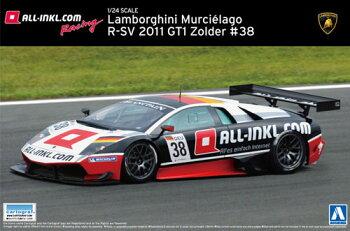 スーパーカーNo.16ランボルギーニムルシエラゴR-SV2011GT1Zolder#38プラモデル[アオシマ]《11月予約》