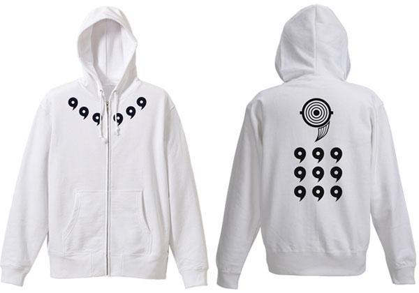 NARUTO-ナルト- 疾風伝 オビト十尾人柱力パーカー/ホワイト-XL(再販)[コスパ]《発売済・在庫品》