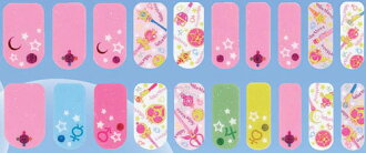 Sailor Moon - Nail Sticker: Weapon & Stars(Back-order)