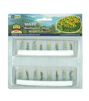ひまわり HOスケール(16本セット)(Sunflower HO Scale (Set of 16)(Back-order))
