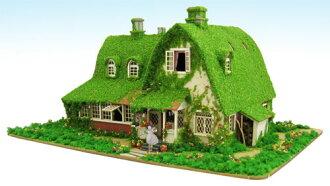 Miniatuart Kit Studio Ghibli Series - Kiki's Delivery Service 1/150 Kiki and Jiji's House (Okino's House)(Released)(みにちゅあーとキット スタジオジブリシリーズ 魔女の宅急便 1/150 キキとジジの家(オキノ邸))