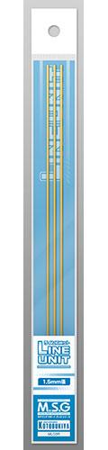 M.S.G モデリングサポートグッズ ラインユニット 1.5mm(3本入)(再販)[コトブキヤ]《発売済・在庫品》