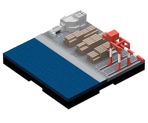 ジオクレイパー 拡張ユニット #002 コンテナターミナル[日本卓上開発]《取り寄せ※暫定》