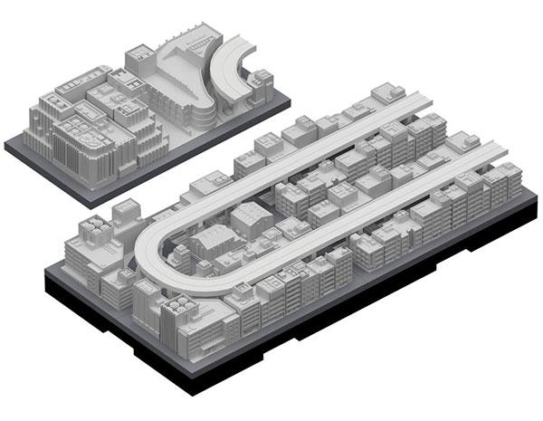 ジオクレイパー 拡張ユニット #004 高速道路セット(再販)[日本卓上開発]《取り寄せ※暫定》