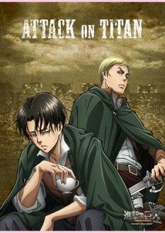 B2タペストリー 進撃の巨人 リヴァイ&エルヴィン(B2 Wall Scroll - Attack on Titan: Levi & Erwin(Released))