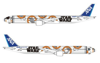 STAR WARS Special Color Plane 1/200 B777-300ER JA784A BB-8 ANA JET (w/Gear)(Back-order)(STAR WARS特別塗装機 1/200 B777-300ER JA784A BB-8 ANA JET(ギアつき))