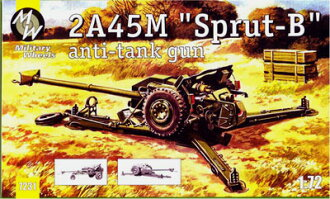 1/72 Russian 2A45M Sprut-B125mm Antitank Gun Plastic Model(Back-order)(1/72 露2A45MスプルートB125mm対戦車砲 プラモデル)