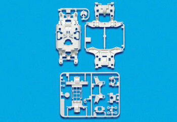 ミニ四駆特別企画MS強化シャーシセット(ホワイト)(再販)[タミヤ]《02月予約》