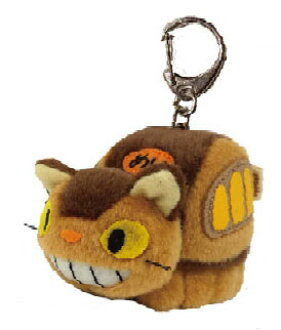 となりのトトロ ふんわりキーホルダー 4.ネコバス(My Neighbor Totoro - Funwari Keychain 4. Cat Bus(Released))