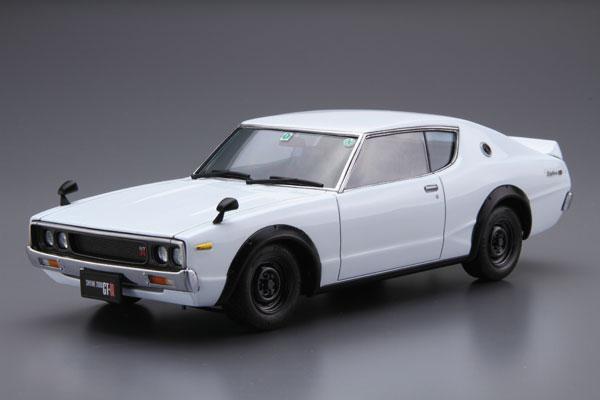 ザ・モデルカー No.15 1/24 ニッサン KPGC110 スカイラインHT2000GT-R '73 プラモデル[アオシマ]《発売済・在庫品》