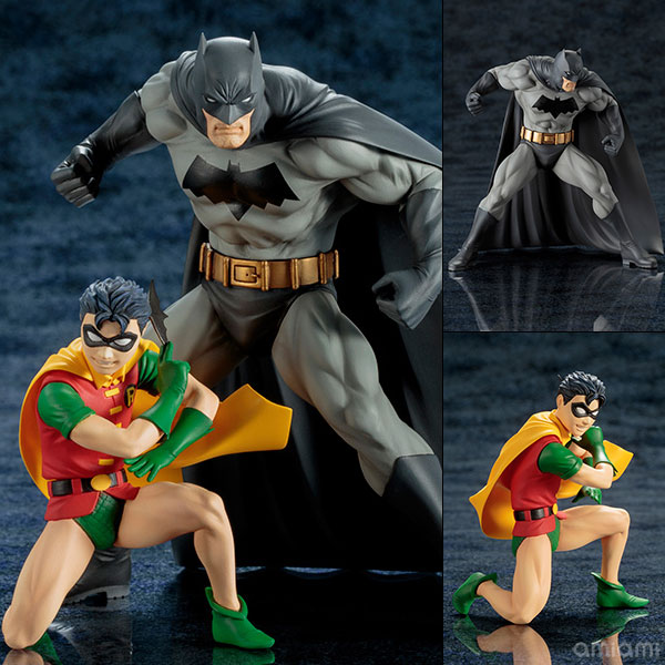 ARTFX+ DC UNIVERSE バットマン&ロビン 2パック 1/10 完成品フィギュア[コトブキヤ]《取り寄せ※暫定》