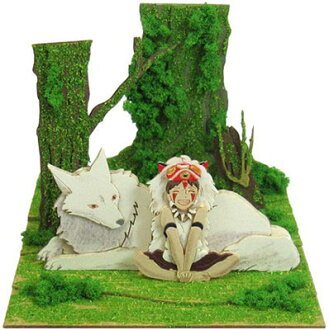 みにちゅあーとキット スタジオジブリmini もののけ姫 サンと山犬(Miniatuart Kit Studio Ghibli mini - Princess Mononoke: San and Mountain Wolf(Released))