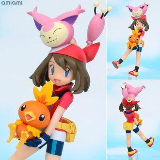 G.E.M.シリーズ ポケットモンスター ハルカ&アチャモ&エネコ 完成品フィギュア(G.E.M. Series - Pokemon: May & Torchic & Skitty Complete Figure(Released))