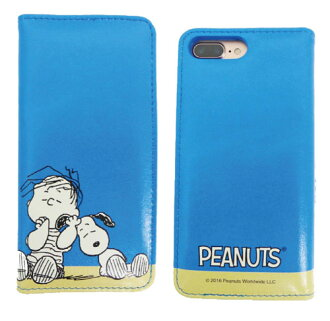 Peanuts - Character Flip Cover: Snoopy & Linus For iPhone 7 Plus (SNG-167D)(Pre-order)(ピーナッツ キャラクターフリップカバー スヌーピー&ライナス iPhone7 Plus専用(SNG-167D))