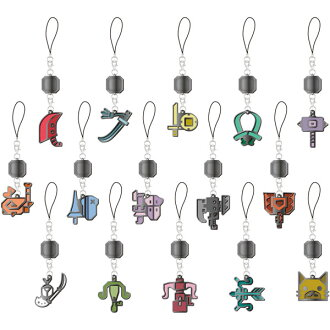 Monster Hunter - Weapon Icon Stained Mascot Collection 15Pack BOX(Back-order)(モンスターハンターダブルクロス 武器アイコン ステンドマスコットコレクション 15個入りBOX)