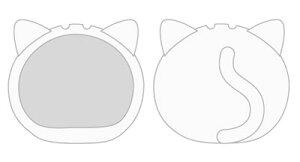 おまんじゅうにぎにぎマスコット きぐるみケース ねこ ホワイト(再販)[エンスカイ]《発売済・在庫品》