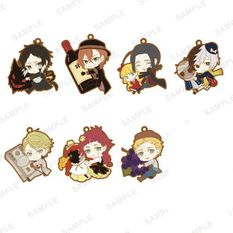 TV Anime Bungo Stray Dogs - PitaColle Rubber Strap BLACK 8Pack BOX(Released)(TVアニメ 文豪ストレイドッグス ぴたコレラバーストラップ BLACK 8個入りBOX)