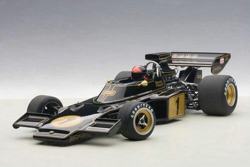 1/18 オートアート・コンポジットモデル ロータス 72E 1973 #1 エマーソン・フィッティパルディ (ドライバーフィギュア付き)[オートアート]《取り寄せ※暫定》