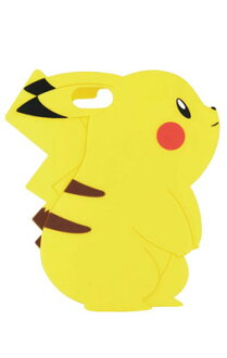 Pokemon - iPhone 7 Silicone Case Diecut Type: Pikachu (POKE-561A)(Released)(ポケットモンスター iPhone 7 対応 シリコンケース ダイカットタイプ ピカチュウ(POKE-561A))