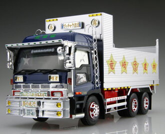 1/32 Value Dekotora No.45 Bucchake Okyou (Deep Box Dumper) Plastic Model(Back-order)(1/32 バリューデコトラ No.45 ブッチャケお京(深箱ダンプ) プラモデル)