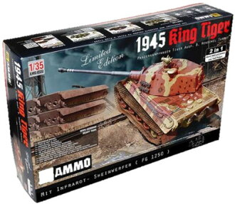 1/35 German Heavy Tank Sd.Kfz.182 King Tiger Henschel Turret 1945 2 in 1 Limited Edition Plastic Model(Back-order)(1/35 ドイツ軍 重戦車 Sd.Kfz.182 キングタイガー ヘンシェル砲塔 1945年 2 in 1 限定版 プラモデル)