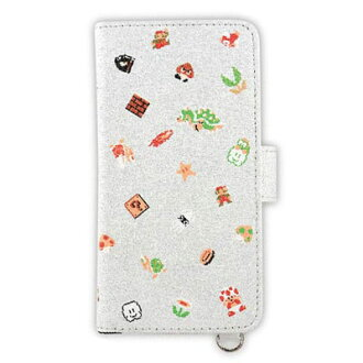 Super Mario Brothers - Standard Book-style Smartphone Cover (M): Pattern (MRB-02B)(Released)(スーパーマリオブラザーズ 汎用手帳型スマートフォンカバー (M) ちらし(MRB-02B))