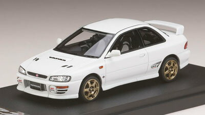 1/43 スバル インプレッサWRX タイプR Sti Ver.1997(GC8) スポーツホイール フェザーホワイト[MARK43]《取り寄せ※暫定》