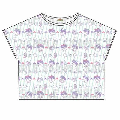 おそ松さん×Sanrio characters 総柄Tシャツ(一松)[エイベックス]《取り寄せ※暫定》
