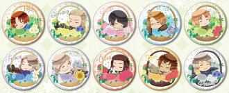 ヘタリア The World Twinkle キャラバッジコレクション 10個入りBOX(Hetalia The World Twinkle - Chara Badge Collection 10Pack BOX(Released))