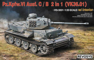 1/35 VI号戦車C型/B型 (VK36.01)w/インテリア 2in1キット プラモデル(1/35 VI Tank Ausf. C/B (VK36.01) w/Interior 2in1 Kit Plastic Model(Released))