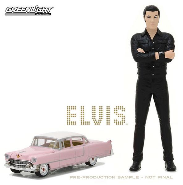 "1/64 Elvis Presley (1935-77) - 1955 Cadillac Fleetwood Series 60 ""Pink Cadillac"" with 1/18 Elvis figure[グリーンライト]《取り寄せ※暫定》"