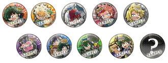 "Pita! Deforme - ""My Hero Academia"" Uniform Can Badge 10Pack BOX(Released)(ぴた!でふぉめ 僕のヒーローアカデミア 制服 缶バッジ 10個入りBOX)"