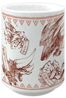 モンスターハンターダブルクロス 和柄湯呑み 赤(Monster Hunter XX - Japanese-design Japanese Teacup: Red(Back-order))