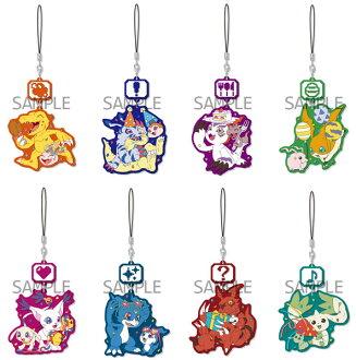 デジモンシリーズ キャラゆらラバーストラップ 8個入りBOX(Digimon Series - Chara Yura Rubber Strap 8Pack BOX(Released))