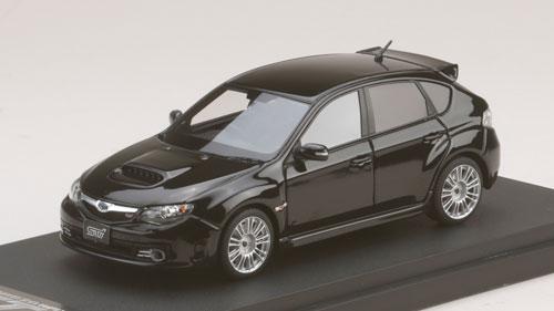 1/43 スバル インプレッサ WRX STI(GRB)純正オプション搭載車 オブシディアンブラックパール[MARK43]《取り寄せ※暫定》