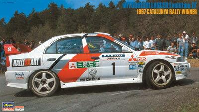 1/24 三菱 ランサー エボリューションIV 1997 カタルニア ラリー ウィナー プラモデル[ハセガワ]《発売済・在庫品》