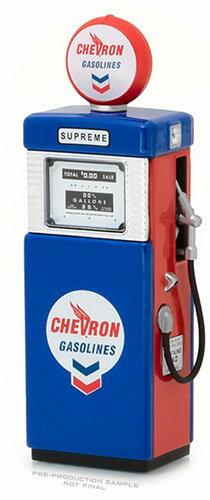 1/18 Vintage Gas Pumps Series 2 - 1951 Wayne 505 Gas Pump Chevron Supreme[グリーンライト]《発売済・在庫品》