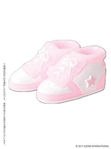 ピコニーモ用 1/12 ソフビハイカットスニーカー ピンク×ホワイト (ドール用)[アゾン]《発売済・在庫品》