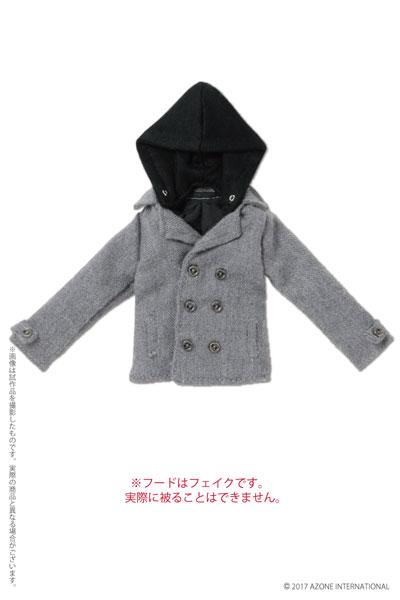 ピュアニーモ用 PNXS 男の子フード付きPコート ライトグレー (ドール用)[アゾン]《発売済・在庫品》