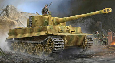 1/35 VI号戦車 ティーガーI後期生産型 プラモデル[トランペッターモデル]《発売済・在庫品》