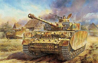 1/35 WW.IIドイツ軍 IV号戦車H型 後期生産型 プラモデル(再販)[サイバーホビー]《02月予約》