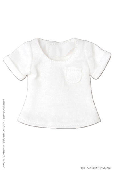 ピュアニーモ用 PNS 男の子ローエッジTシャツ ホワイト (ドール用)[アゾン]《発売済・在庫品》