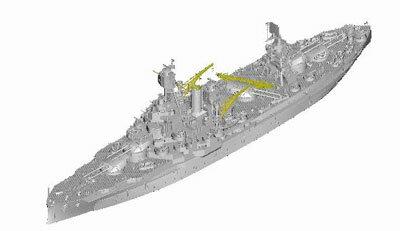 1/700 アメリカ海軍戦艦 BB-35 テキサス プラモデル[トランペッターモデル]《06月予約》