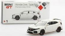 1/64 ホンダ シビックType R チャンピオンシップホワイト(右ハンドル)[MINI GT]《06月予約》