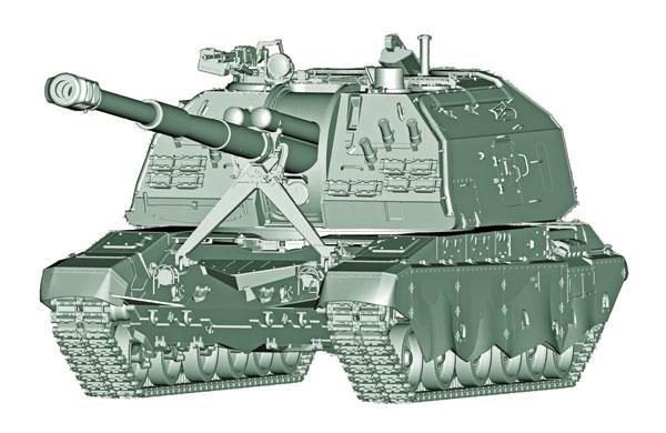 1/35 2S19M2 152mm自走榴弾砲 ムスタ-S プラモデル[トランペッターモデル]《07月予約》