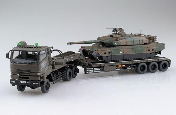 1/72 ミリタリーモデルキット No.16 陸上自衛隊 10 式戦車 73式特大型セミトレーラー付属 プラモデル[アオシマ]《発売済・在庫品》